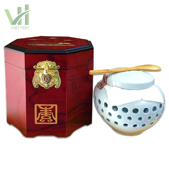 <em>Chi tiết sản phẩm Cao Hồng Sâm Hoàng Hậu Bio 500gram hộp gỗ</em>