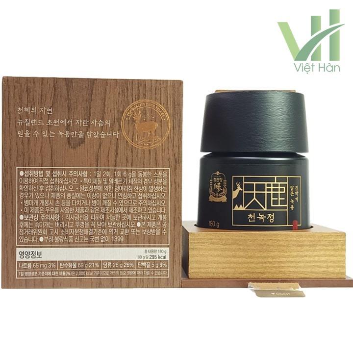 Bên trong sản phẩm Cao Hồng Sâm Nhung Hươu 180 gram Cheong Kwanchang
