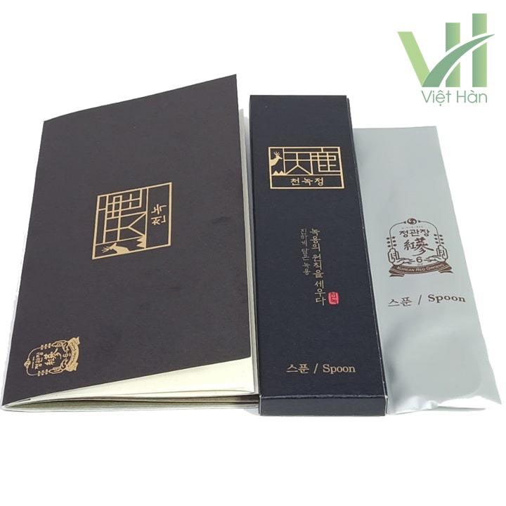Phụ kiện kèm theo sản phẩm Cao Hồng Sâm Nhung Hươu 180 gram Cheong Kwanchang