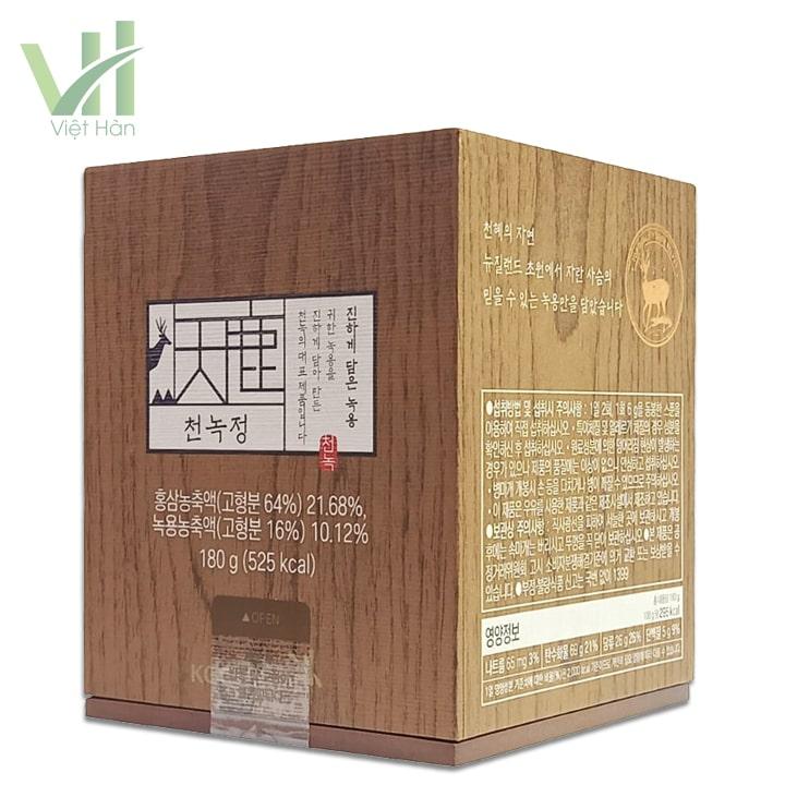 <em>Góc sản phẩm Cao Hồng Sâm Nhung Hươu 180 gram Cheong Kwanchang</em>