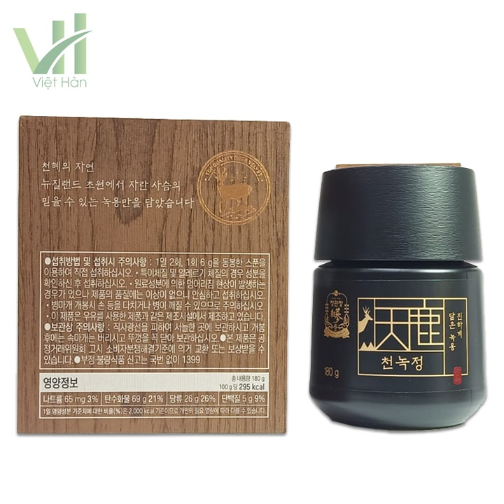 <em>Sản phẩm Cao Hồng Sâm Nhung Hươu 180 gram Cheong Kwanchang</em>
