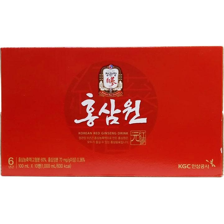 Hộp sản phẩm Nước Hồng Sâm Won Chai 100ml X 10 Cheong Kwan Chang