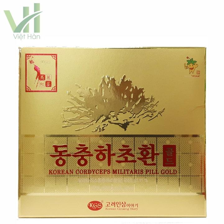 Mặt trước sản phẩm Viên Đông Trùng Hạ Thảo Hàn Quốc 100g x 2 lọ thương hiệu KGS