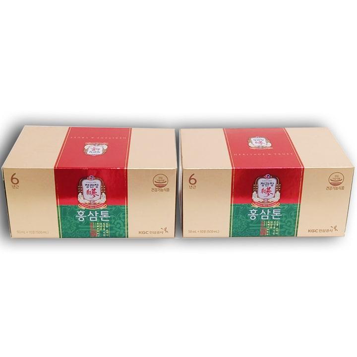 2 hộp nước hồng sâm KGC Tonic ( 50ml x 10 gói x 2 hộp)