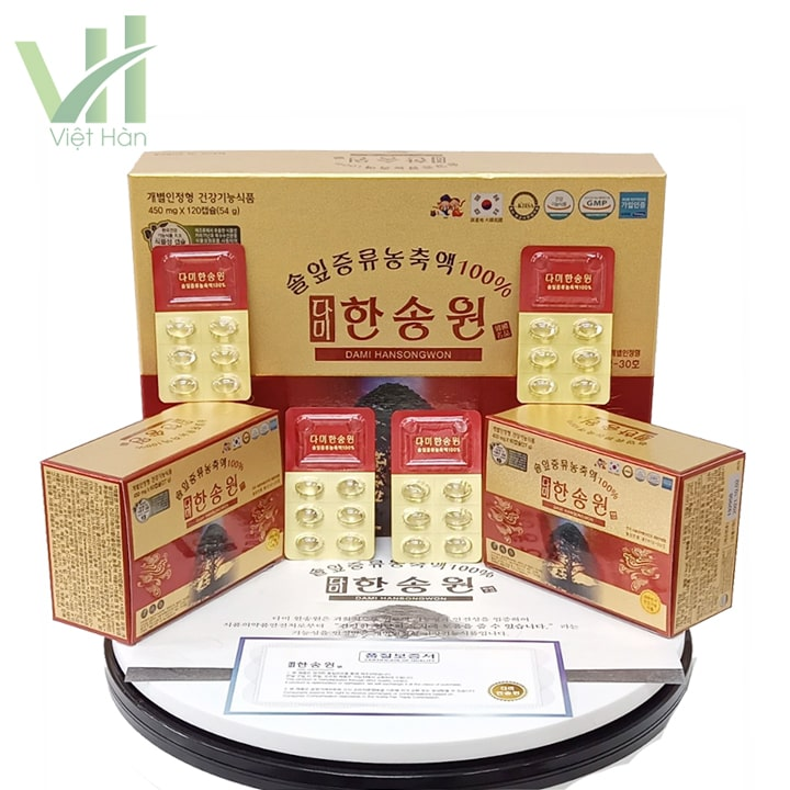Sản phẩm tinh dầu thông đỏ Dami Hansongwon 120 viên