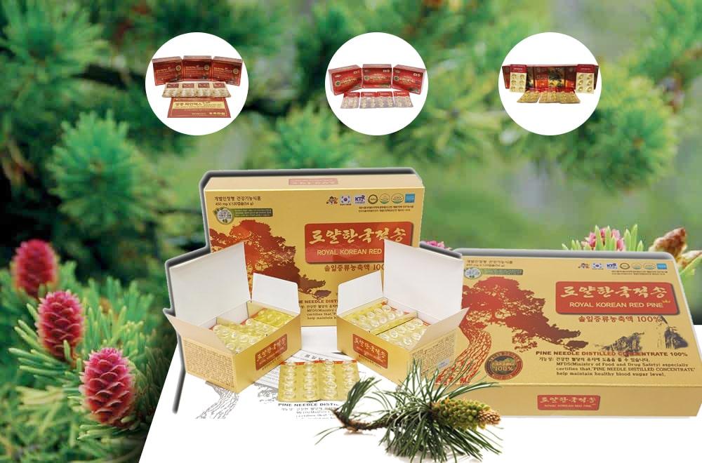 Hình ảnh: sản phẩm Tinh Dầu Thông Đỏ Hàn Quốc