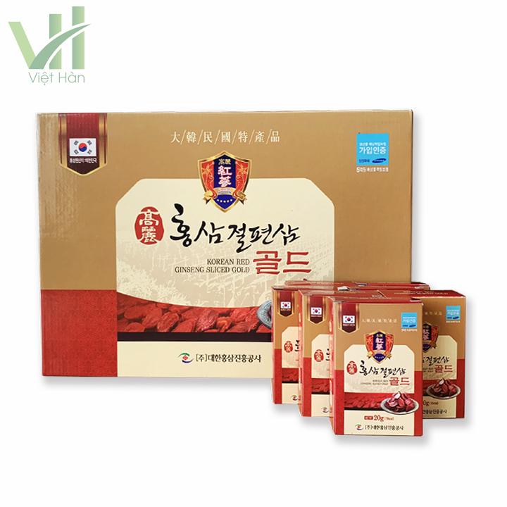 Sâm lát tẩm mật ong Geumsan 10 gói*20gr