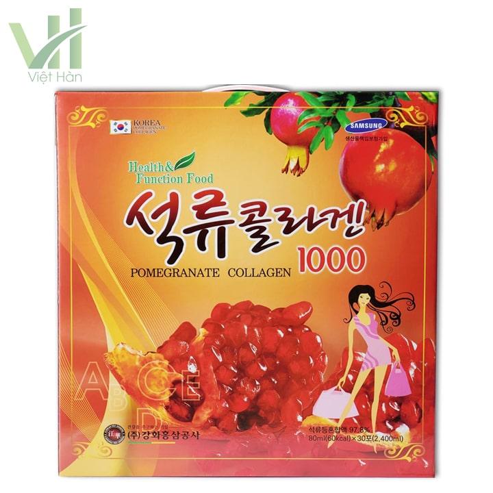 Nước ép lựu collagen Kanghwa chứa nhiều thành phần tốt cho sức khỏe