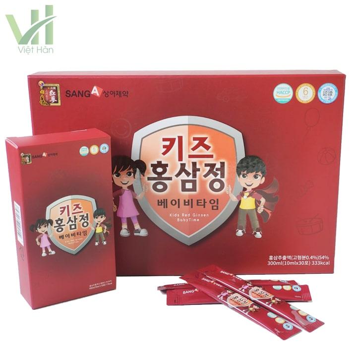 Nước hồng sâm baby SangA Hàn Quốc thúc đẩy sự phát triển toàn diện của trẻ